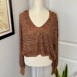 NWT Abound Cropped Hoodie Long Sleeve Sweater